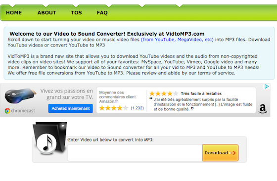 vidtomp3 video mp3 converter